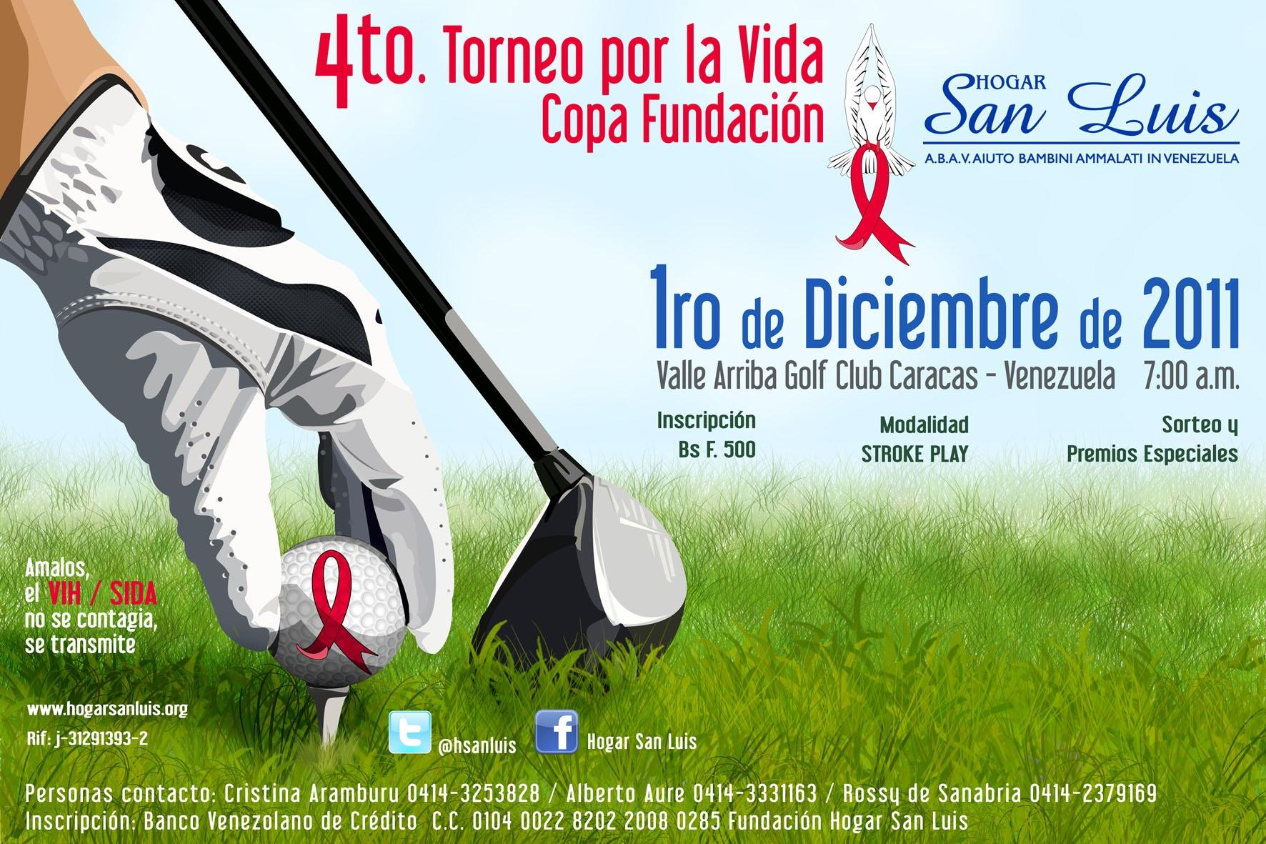 """IV Torneo de Golf copa """"Por la Vida"""" Fundación Hogar San Luis"""